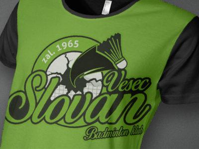 Limitovaná edice triček TJ SLOVAN VESEC BADMINTON