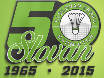 Logo 50.vyročí TJ SLOVAN VESEC BADMINTON