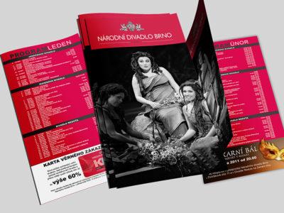 Brožurka Národní Divadlo