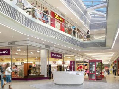 Pracovní budka vizualizace nákupní centrum